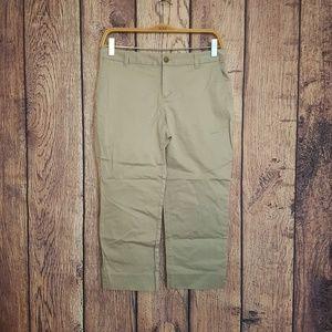 Banana Republic tan cropped pants size 4